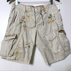 NWT Mason's beige embroidered cargo pants size 42